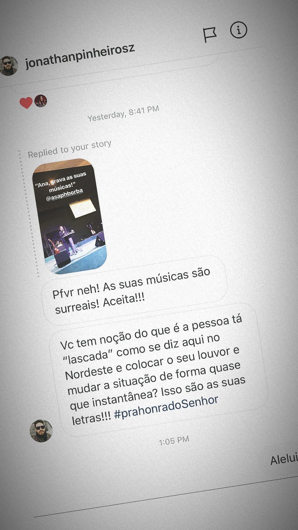 Post no Insta de Ana Paula Valadão