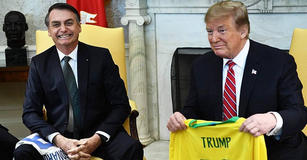 Bolsonaro e Donald Trump (Reprodução)