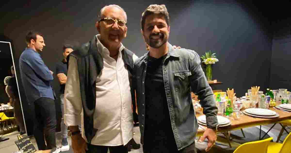Galvão Bueno visita igreja do cantor gospel André Valadão