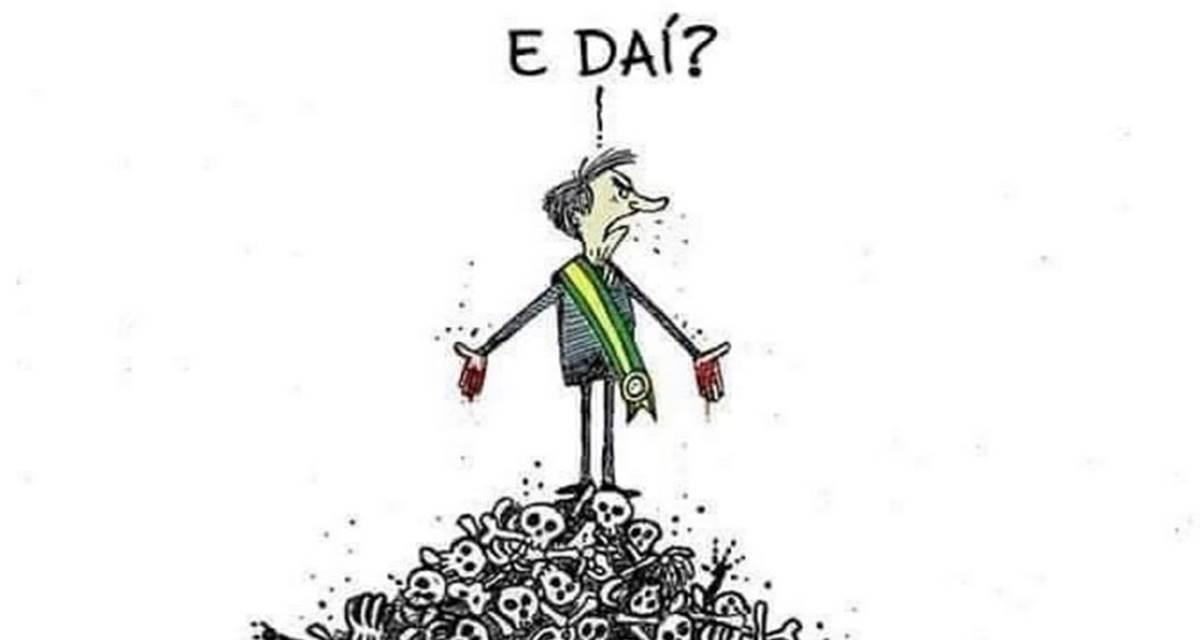 Charge de Bolsonaro (Reprodução)