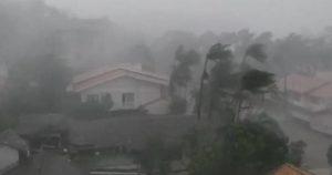 Igreja destruída por ciclone em Blumenau (Reprodução)