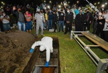 Pastor Sebastião Rodrigues de Souza, sepultamento (Reprodução)