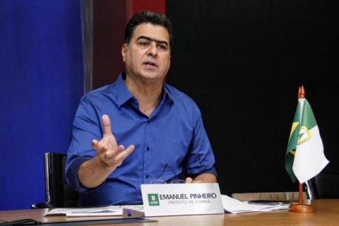 Prefeito de Cuiabá Emanuel Pinheiro (Reprodução)
