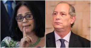Damares Alves e Ciro Gomes (Reprodução)