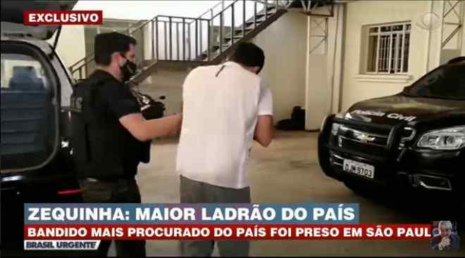 Maior ladrão do país sendo preso