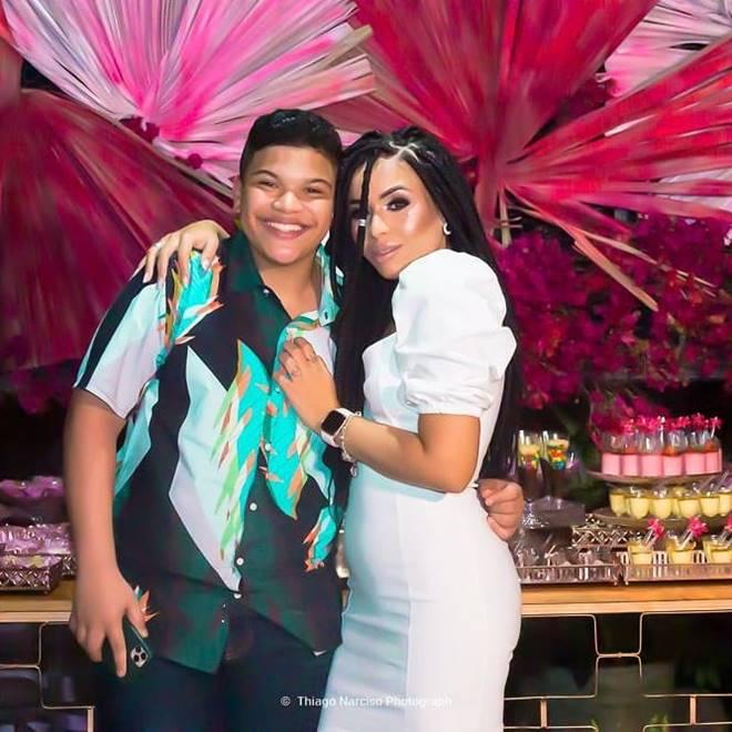 Paulo Neto e a irmã, Lanah Silva
