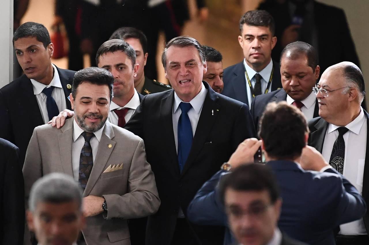 Pastor Marco Feliciano e o presidente Jair Bolsonaro