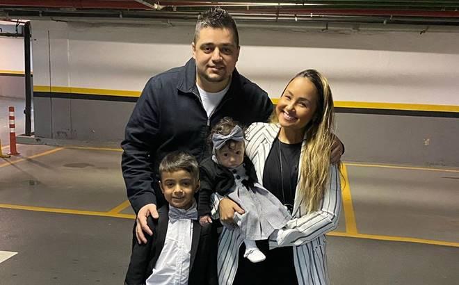 Cantora gospel Bruna Karla e a família