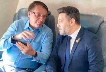 Feliciano em viagem com o presidente Jair Bolsonaro