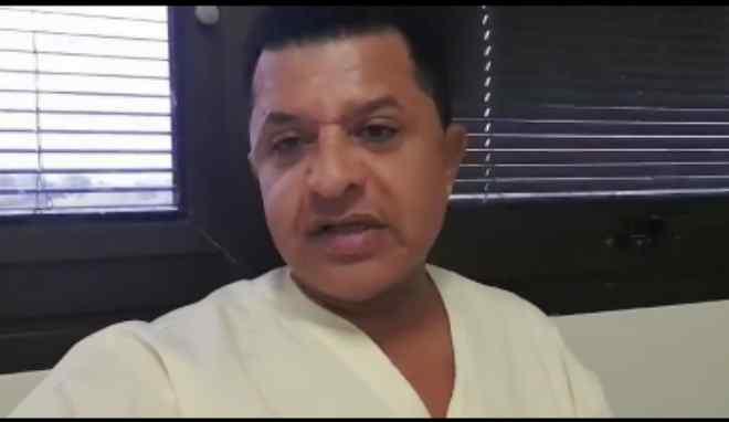 Com covid-19, Abílio Santana grava vídeo no hospital e acalma seguidores