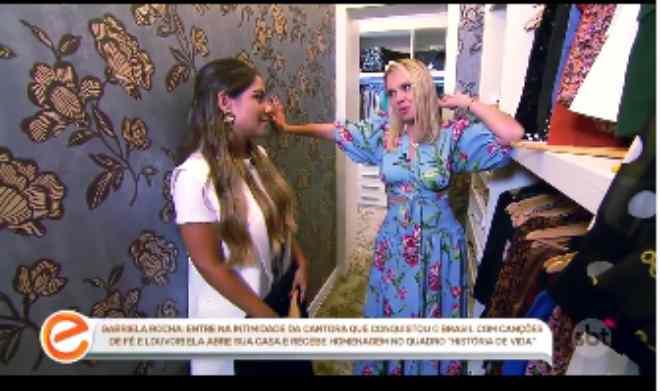 Gabriela Rocha abre sua mansão para Eliana