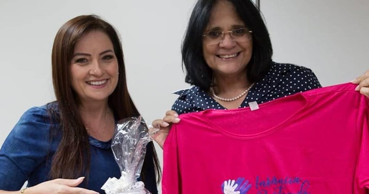 Lauriete se reúne com ministra Damares Alves em busca apoio para projetos