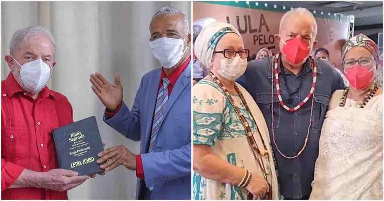 Após bênção de Zé Pilintra da Umbanda, Lula recebe apoio do pastor Isidório